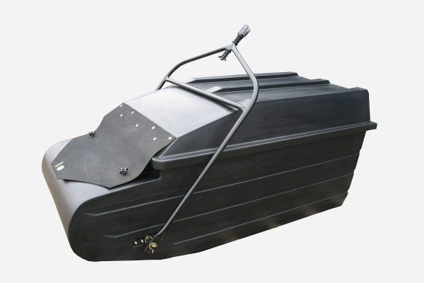 Snow Tracker Sled with Hitch Angled View