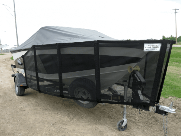 Reliable Stone Guard on trailer