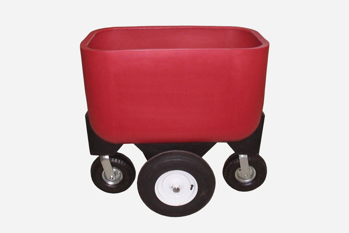 4 wheel Feed Cart 58gal Feed Cart