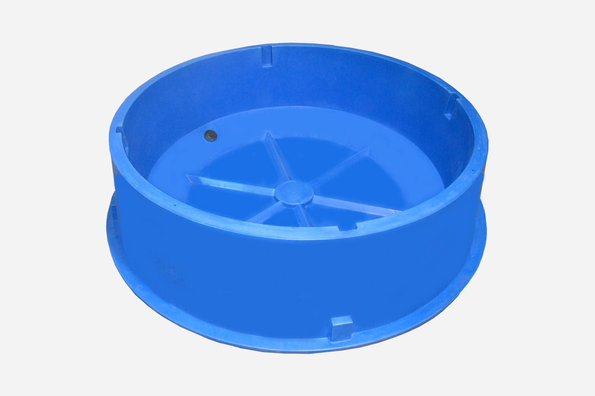425gal round Stock Water Trough Blue
