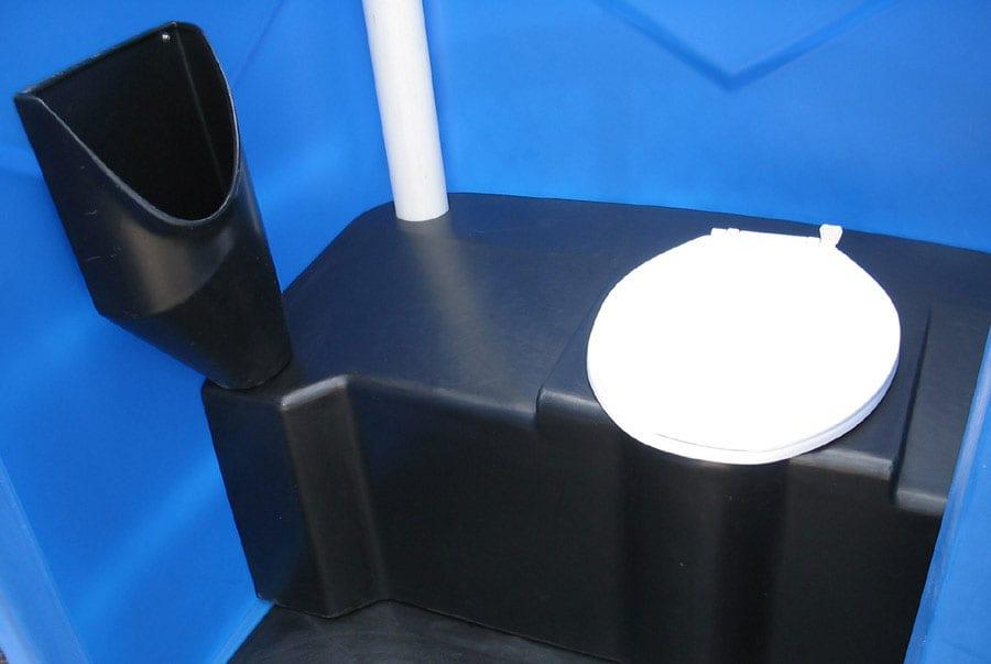 Inside Portable Poly Potty Blue