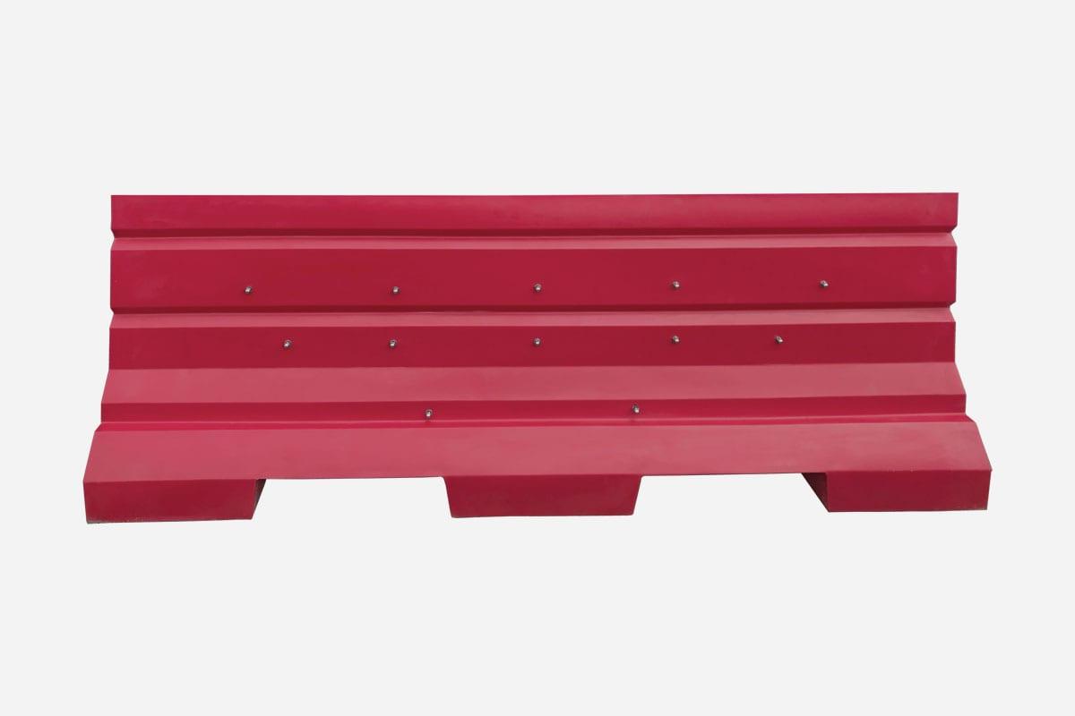 Plastic Jersey Barricade Red