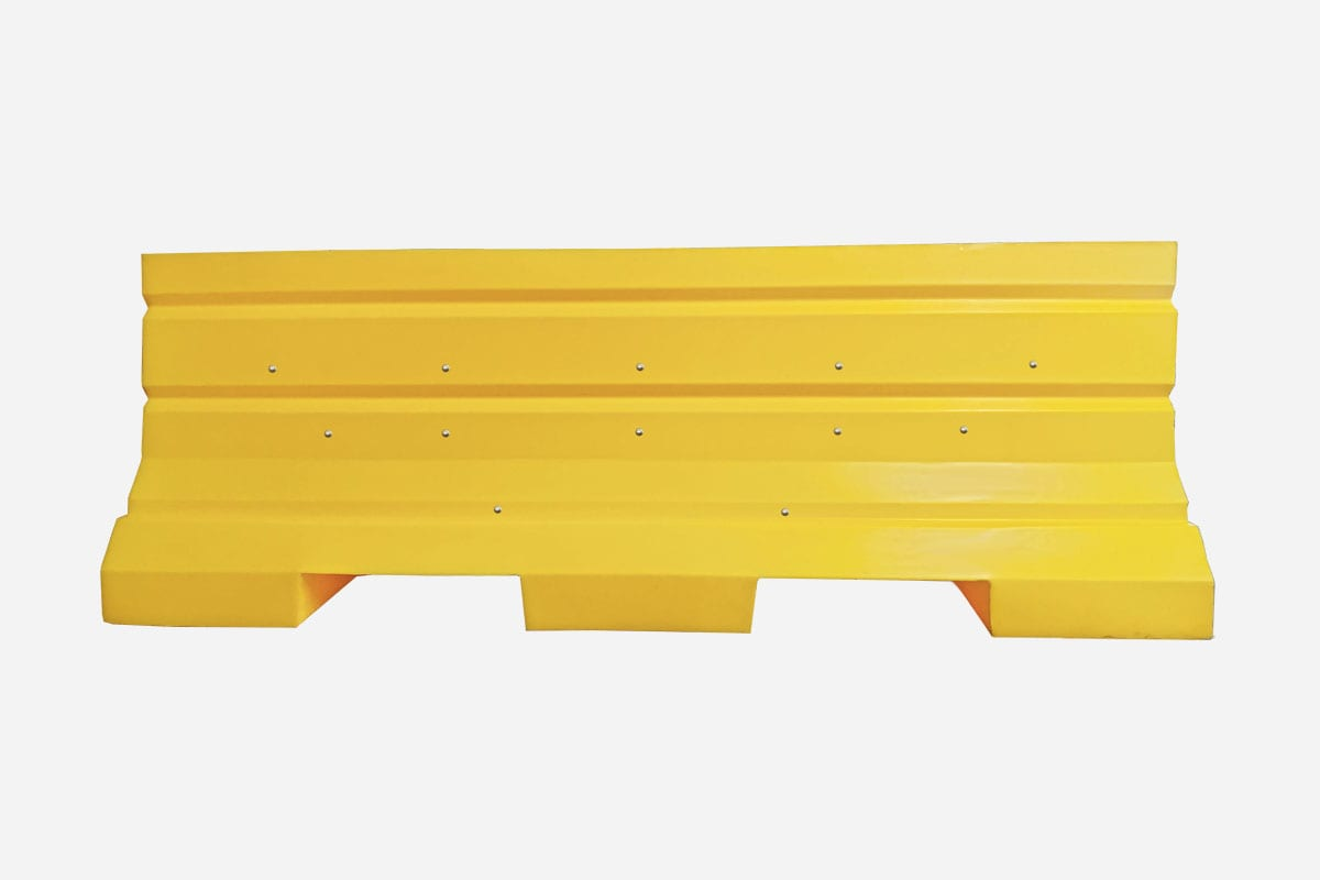 Plastic Jersey Barricade Yellow