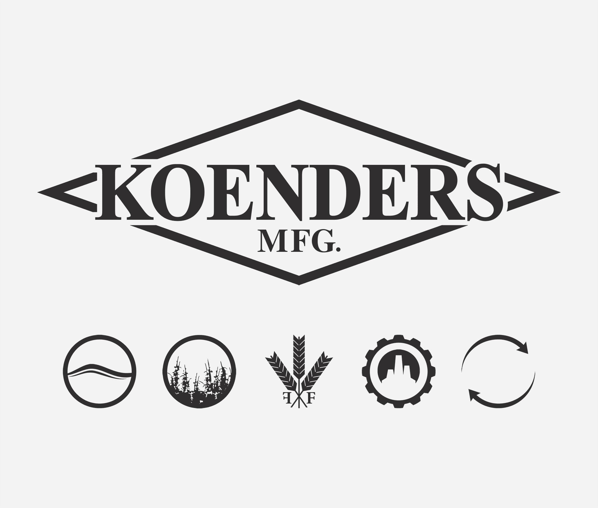 Koenders Main Logo and Product Line Logos